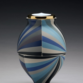 Blue Twisting Jar