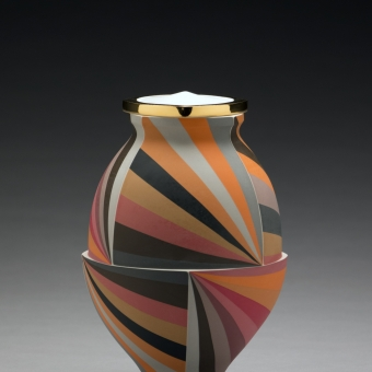 Orange Twisting Jar